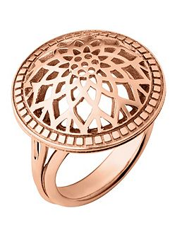 Timeless rose gold domed ring