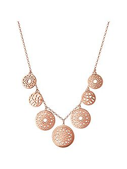 Timeless 18ct rose gold vermeil coin necklace