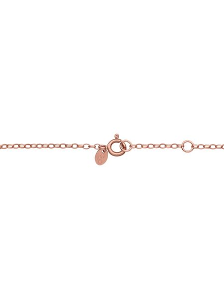 Links of London Timeless 18ct rose gold vermeil coin necklace