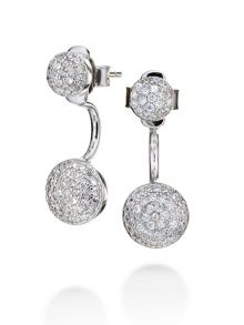 Folli Follie Fashionably silver sparkle ball earrings