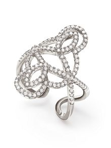 Folli Follie Fashionably silver swirl ring