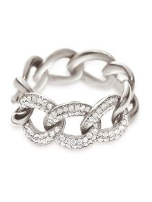 Folli Follie Fashionably silver chain ring