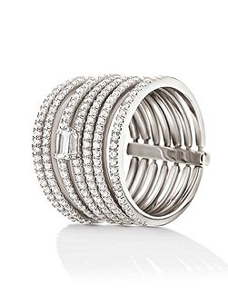 Fashionably silver stack ring