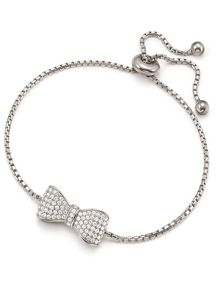Folli Follie Fashionably silver bow bracelet