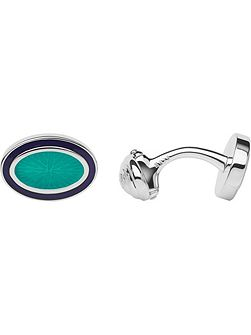 Sterling silver & turquoise cufflinks