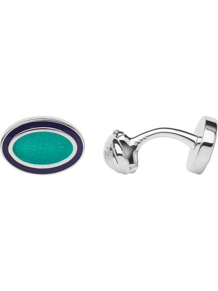 Links of London Sterling silver & turquoise cufflinks