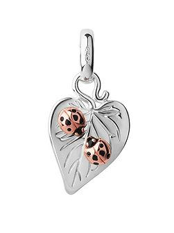Sterling Silver Love Bugs Valentine Charm
