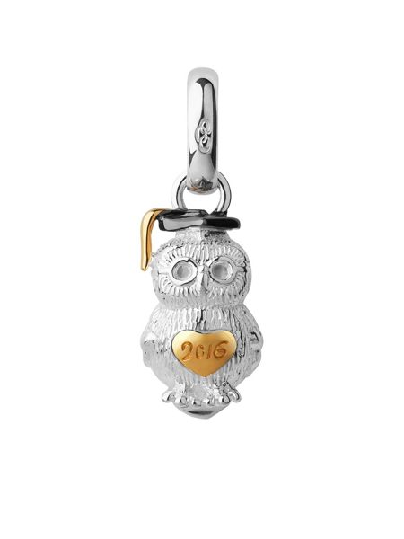 Links of London Sterling silver 2016 graduation owl charm