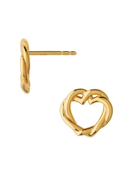 Links of London Kindred soul 18kt gold vermeil stud earrings