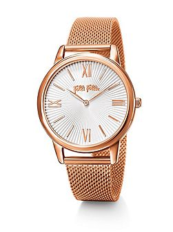 Match point rose gold bracelet watch large