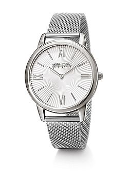 Match point silver bracelet watch large