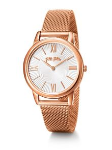 Folli Follie Match point rose gold bracelet watch