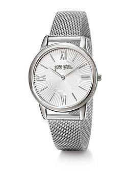 Match point silver bracelet watch