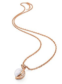 Orbit rose gold long small neclace
