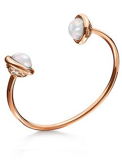 Orbit rose gold bangle