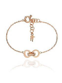 Touch rose gold link bracelet