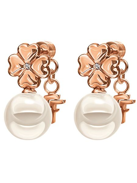 Folli Follie Grace pearl flower earrings