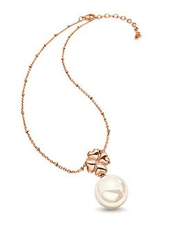 Grace rose gold pearl drop necklace
