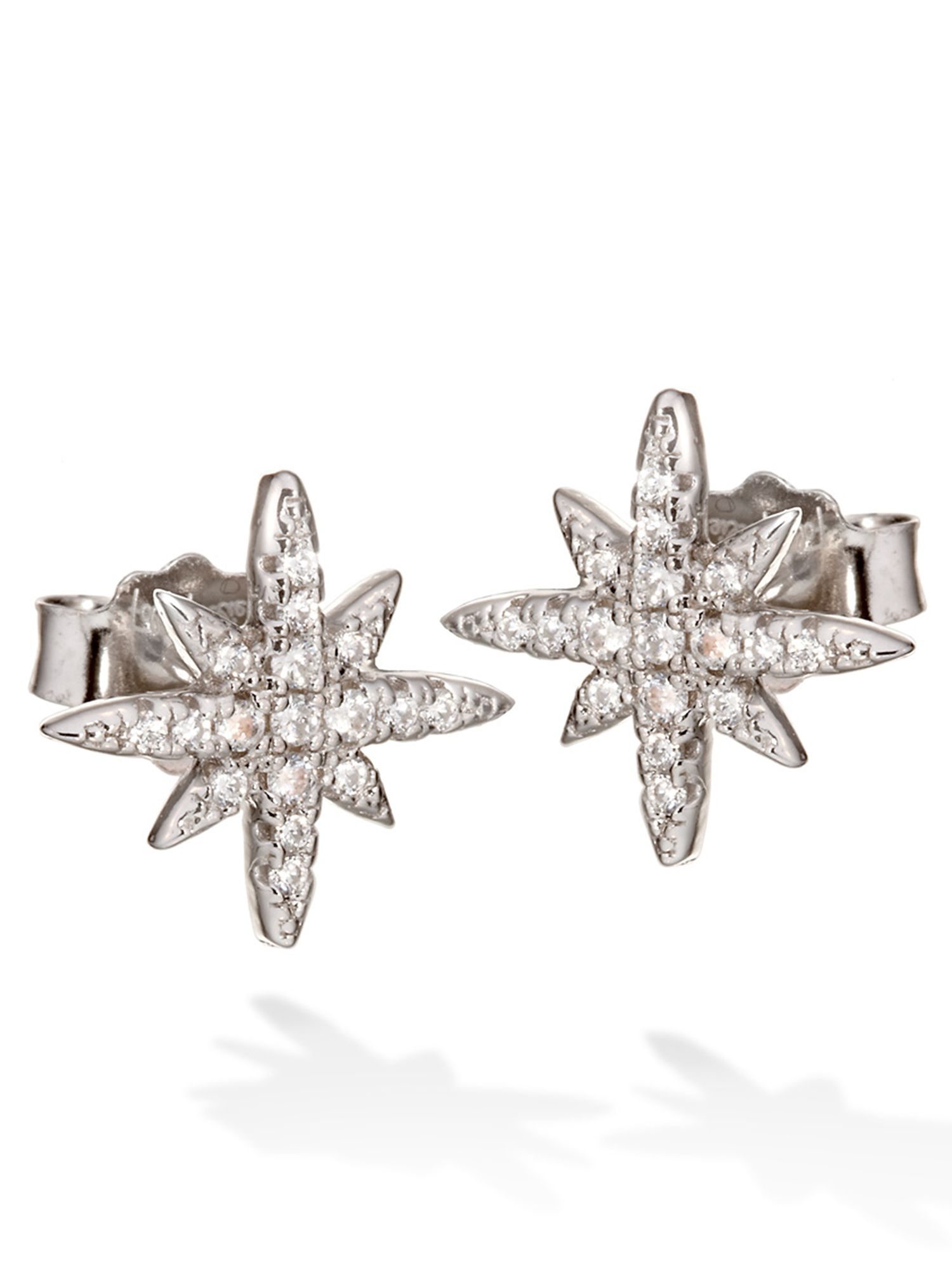 folli follie fashionably silver starry sky stud earrings