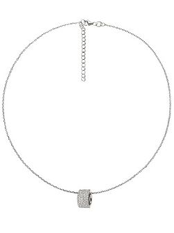 Fashionably silver hoop necklace