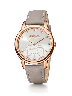 Santorini flower half grey watch