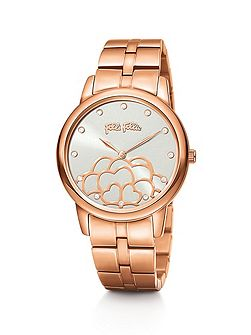 Santorini flower rose gold watch