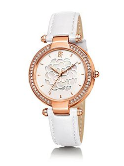 Santorini flower mop white watch