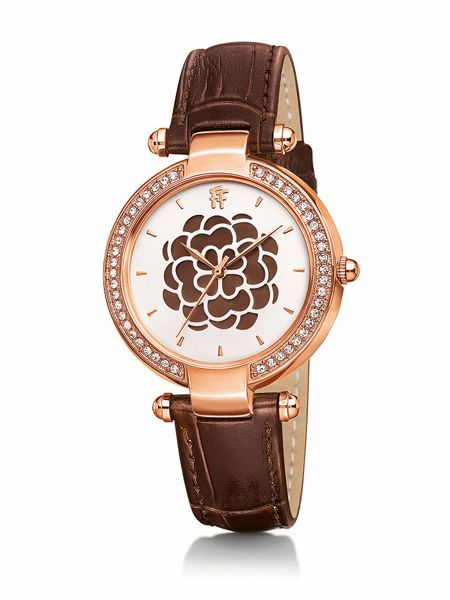 Folli Follie Santorini flower mop brown watch