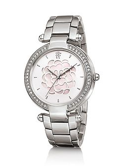 Santorini flower mop stainless steel watch