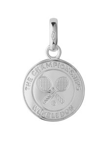 Links of London Wimbledon silver rackets disc charm