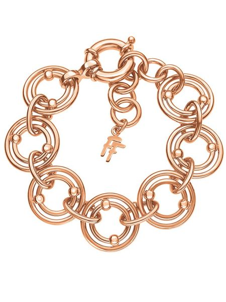 Folli Follie Bonds rose gold station bracelet