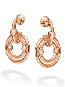 Folli Follie Bonds rose gold drop earrings