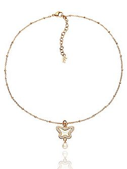 Butterfly rose gold necklace