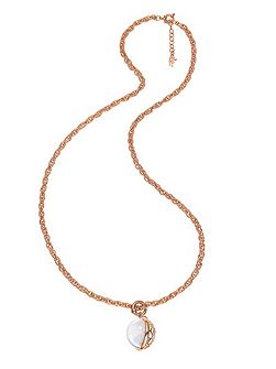 Orbit rose gold long large necklace