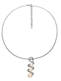 Grace twist silver necklace
