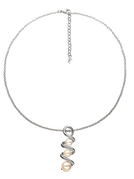 Folli Follie Grace twist silver necklace