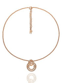 Bonds rose gold necklace