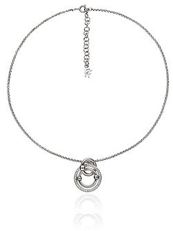 Bonds silver station necklace