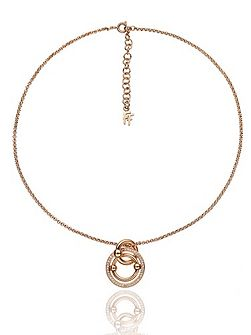 Bonds rose gold station necklace