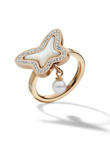 Folli Follie Butterfly rose gold ring