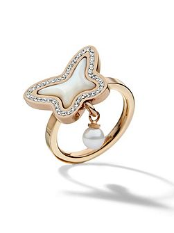 Butterfly rose gold ring