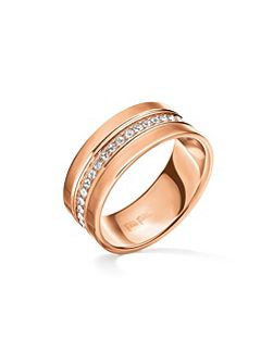 Touch rose gold ring