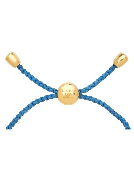 Links of London Effervescence xs gold & blue bracelet