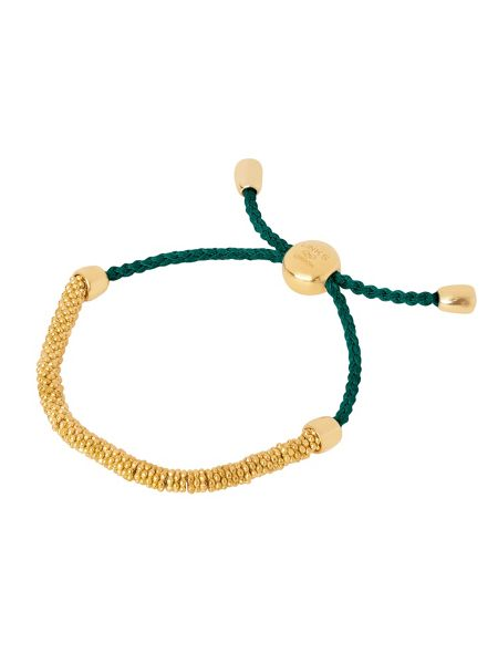 Links of London Effervescence xs gold & green bracelet