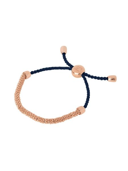 Links of London Effervescence xs rose & navy bracelet