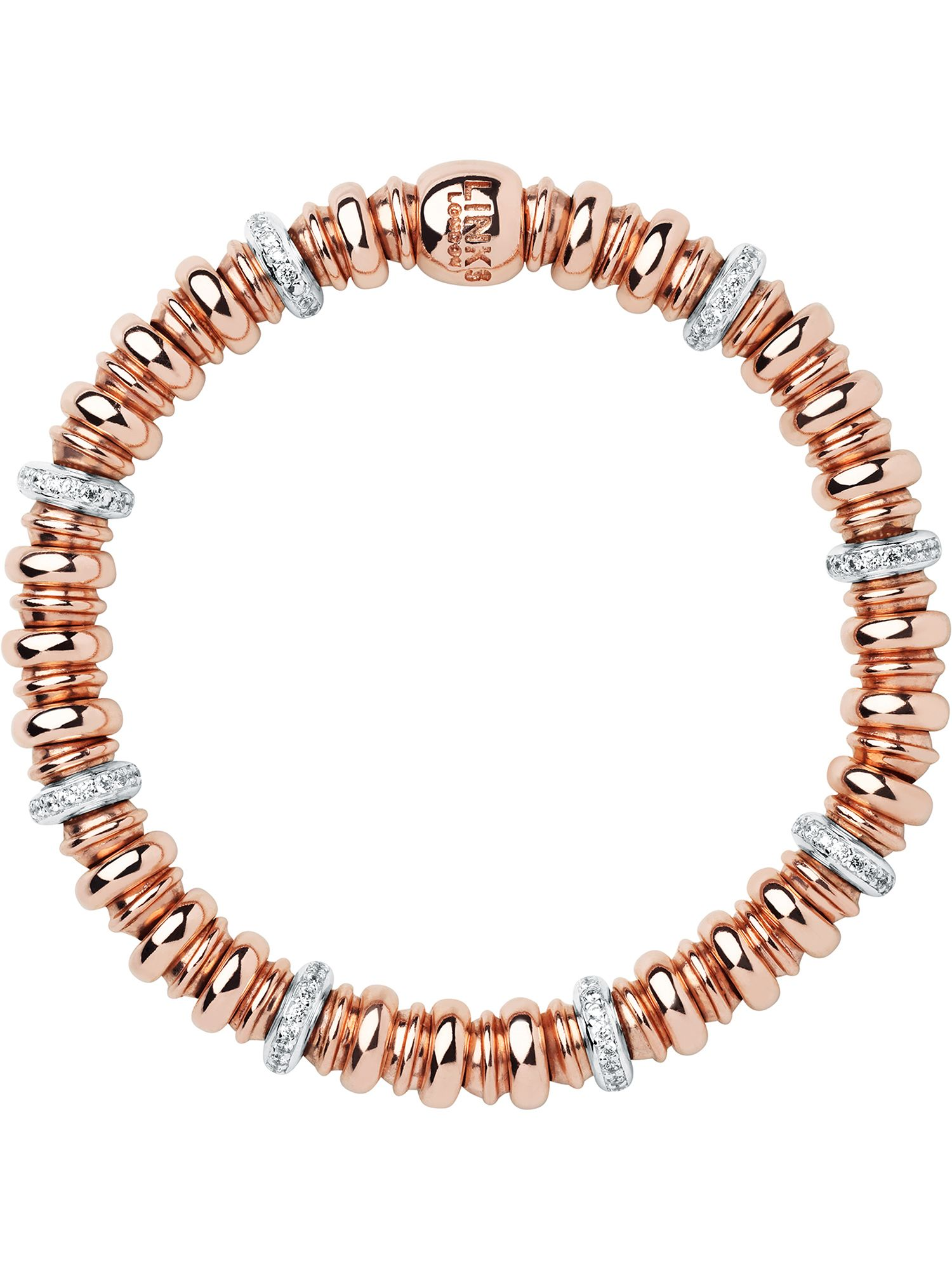 links of london sweetheart topaz and rose gold bracelet
