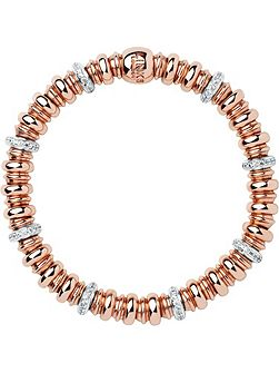 Sweetheart Topaz & Rose Gold Bracelet