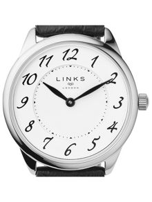 Links of London Narrative Womens Black Leather Watch