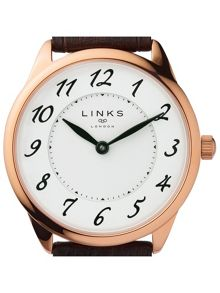 Links of London Narrative Womens Brown Leather Watch