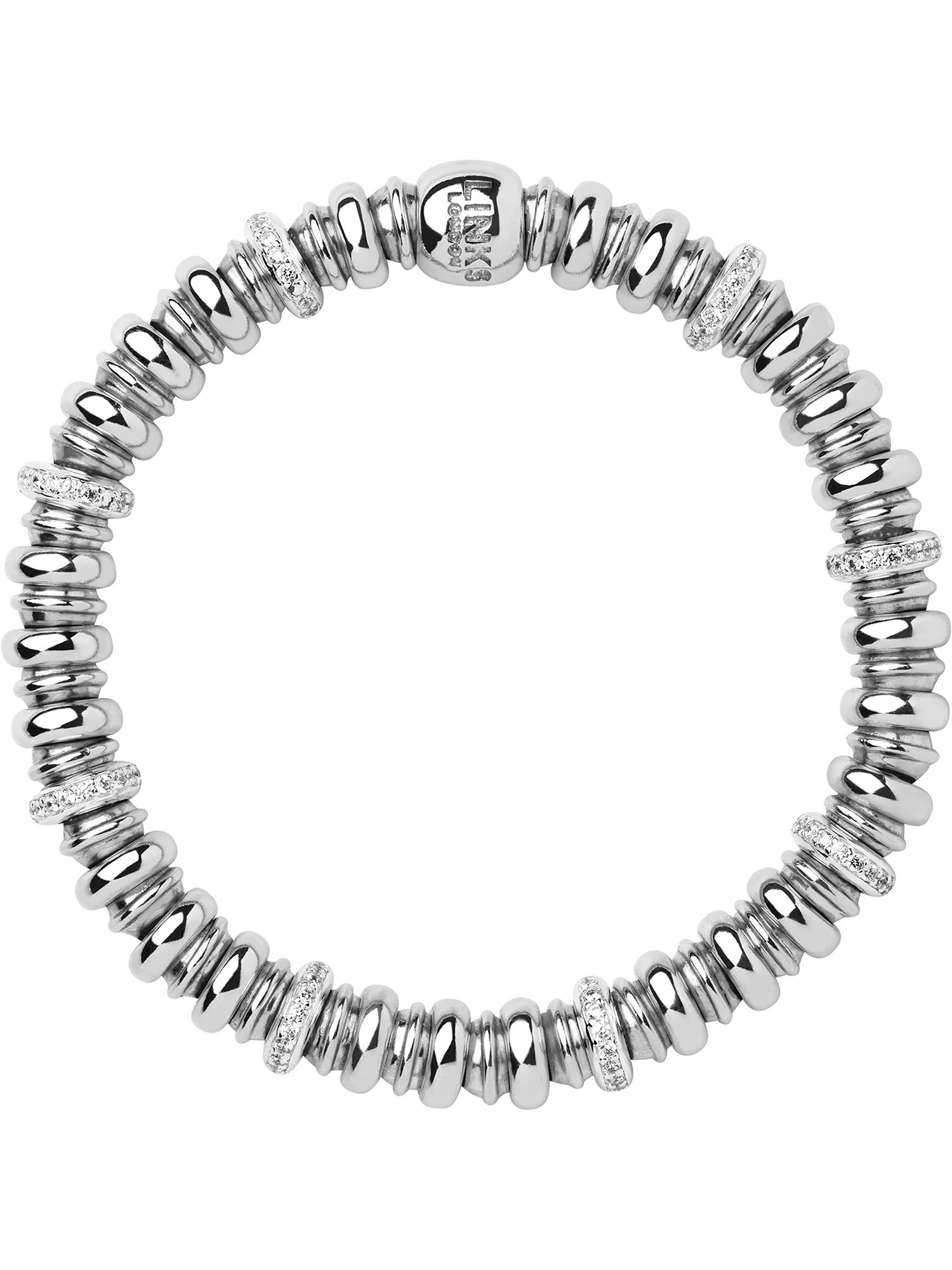 links of london sweetheart silver and white topaz bracelet
